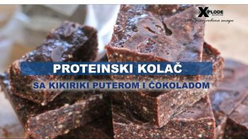 Proteinski kolač s kikiriki puterom i čokoladom - Xplode Nutrition