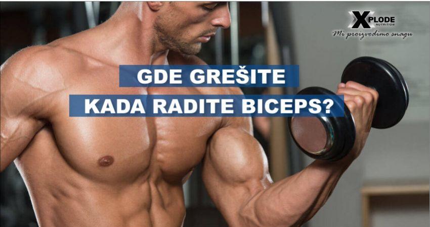 Gde grešite kada radite biceps?