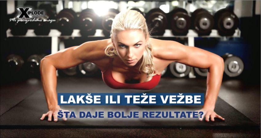 Lakše ili teže vežbe - šta daje bolje rezultate?