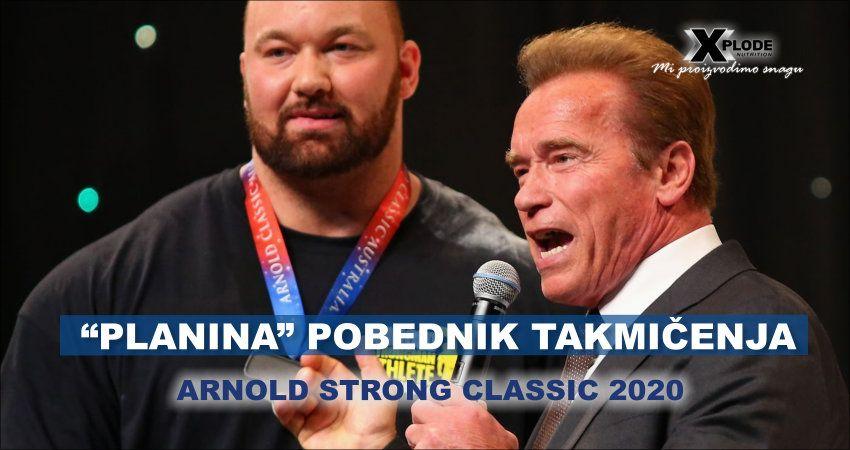 """""""Planina"""" pobednik takmičenja Arnold strong classic 2020"""