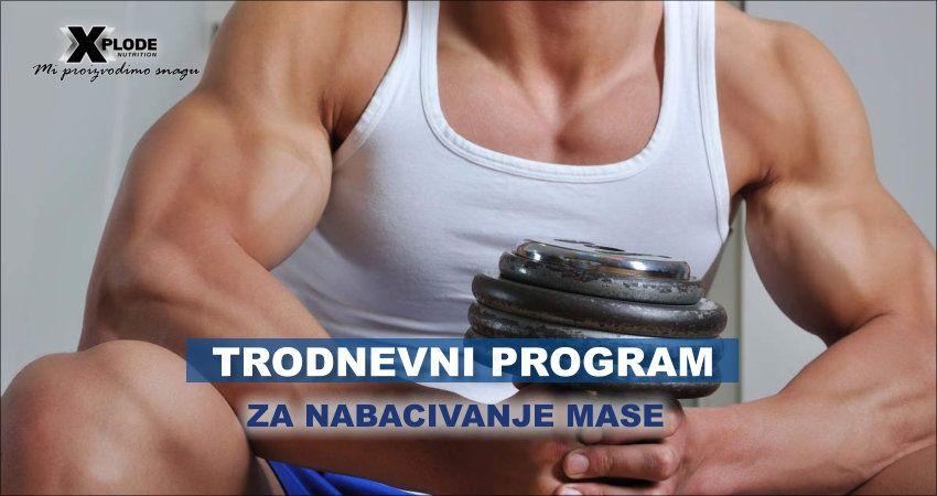 Trodnevni program za nabacivanje mase
